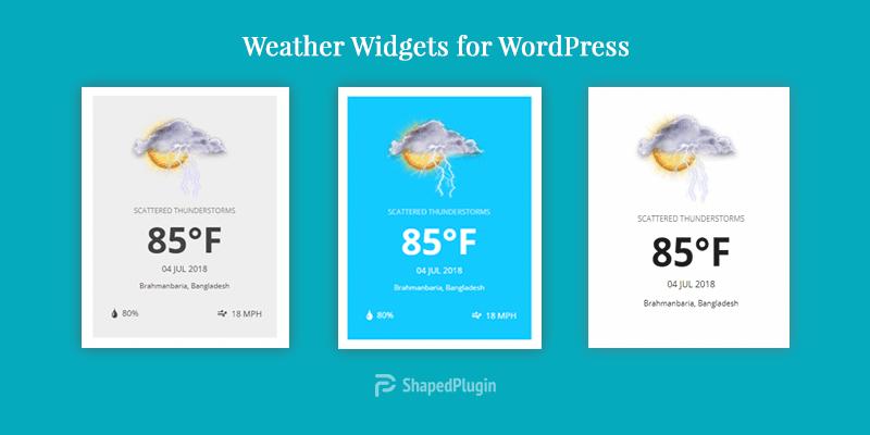11+ Best WordPress Weather Widget Plugins 2018 - ShapedPlugin