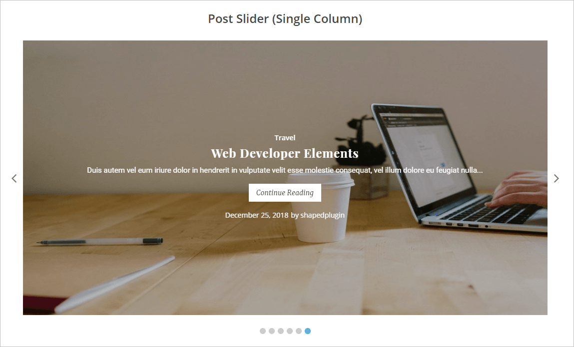 WordPress-Post-Slider-Demo