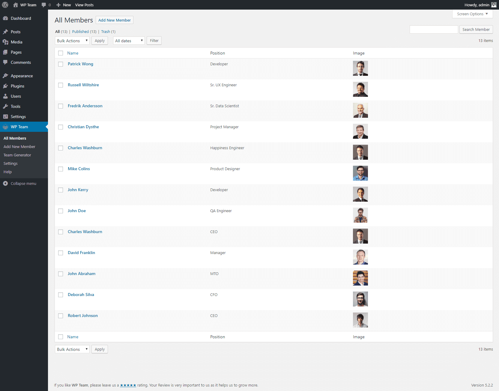 All Team Members