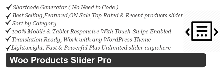 Free Woocommerce Products Slider