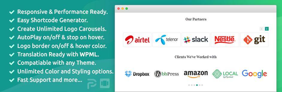 Logo Carousel – Best Logo Slider and Clients Logo Gallery Plugin