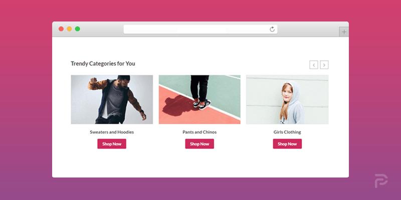 WooCommerce Category Slider