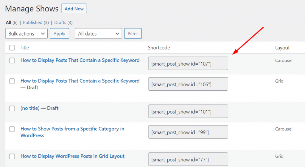 How to Display Posts That Contain a Specific Keyword